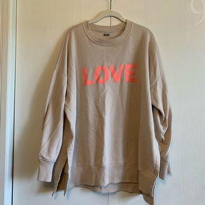 """Aerie """"Love"""" Crewneck Sweater"""